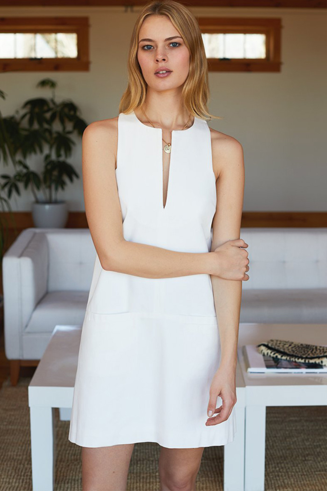 Emerson Fry CUT OUT MOD SHIFT DRESS - Side Cropped Image