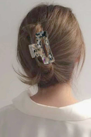 Lyn -Maree's Cut Out Rectangle Hair Claw Clip - Front cropped