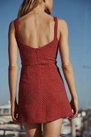 SAGE THE LABEL Cut Out Red Polka Dot Dress - Front full body