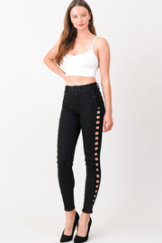 MONTREZ CUT OUT RIPPED SKINNY JEANS - Product Mini Image