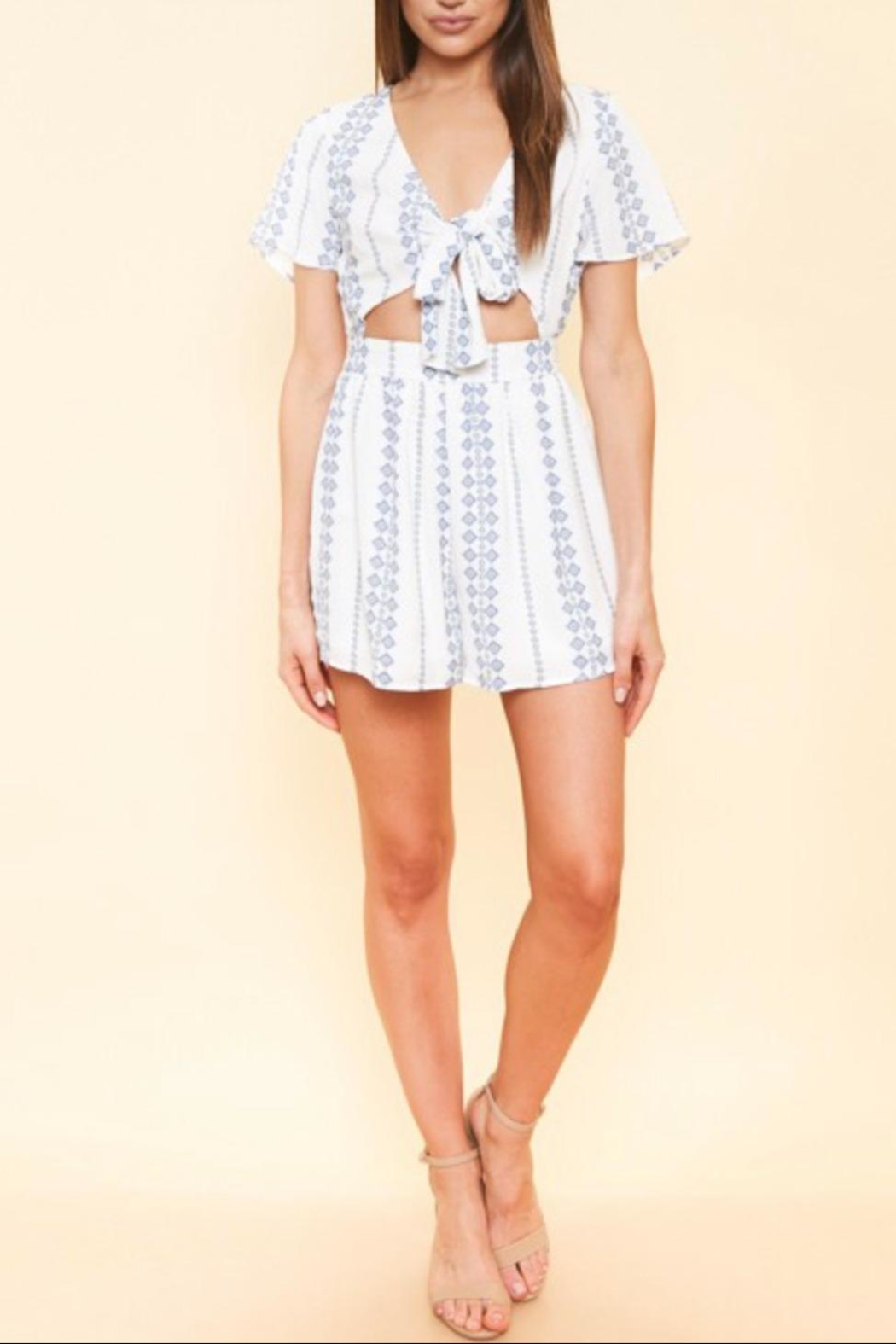 Available Cut Out Romper - Back Cropped Image