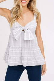 Listicle Cut-Out Ruffle Tank - Front cropped