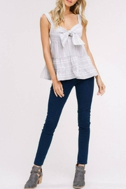 Listicle Cut-Out Ruffle Tank - Front full body