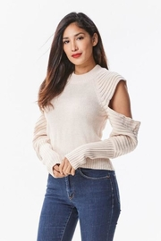 Uniq Cut-Out Shoulder Sweater - Product Mini Image