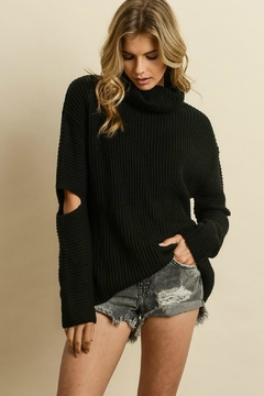Quarter To Five Cut-Out Sleeve Turtleneck - Product List Image