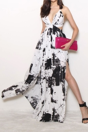 Runway & Rose Cut-Out Splatter Maxi - Product Mini Image