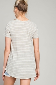 LLove USA Cut Out Tee-Shirt - Front full body