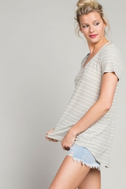 LLove USA Cut Out Tee-Shirt - Side cropped