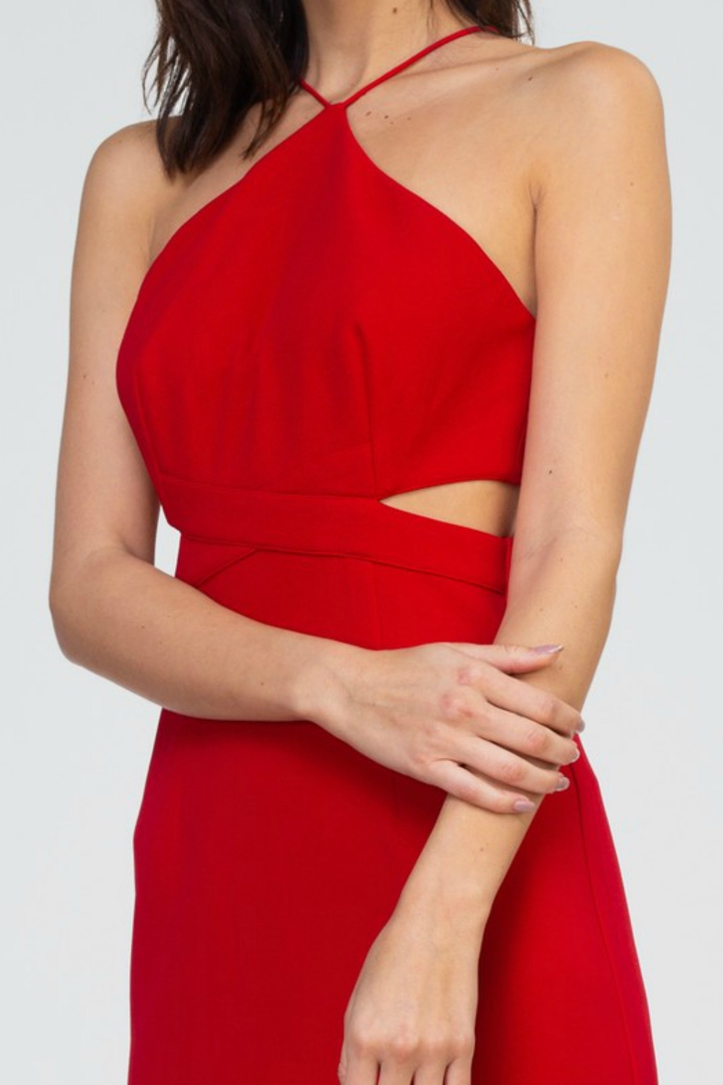 Minuet Cut Out Waist Gown - Side Cropped Image