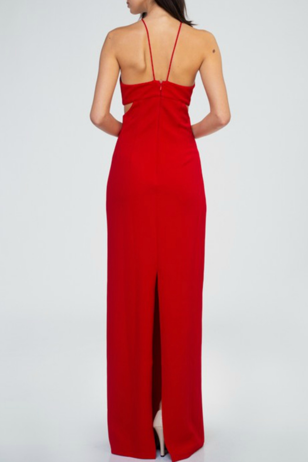 Minuet Cut Out Waist Gown - Front Full Image