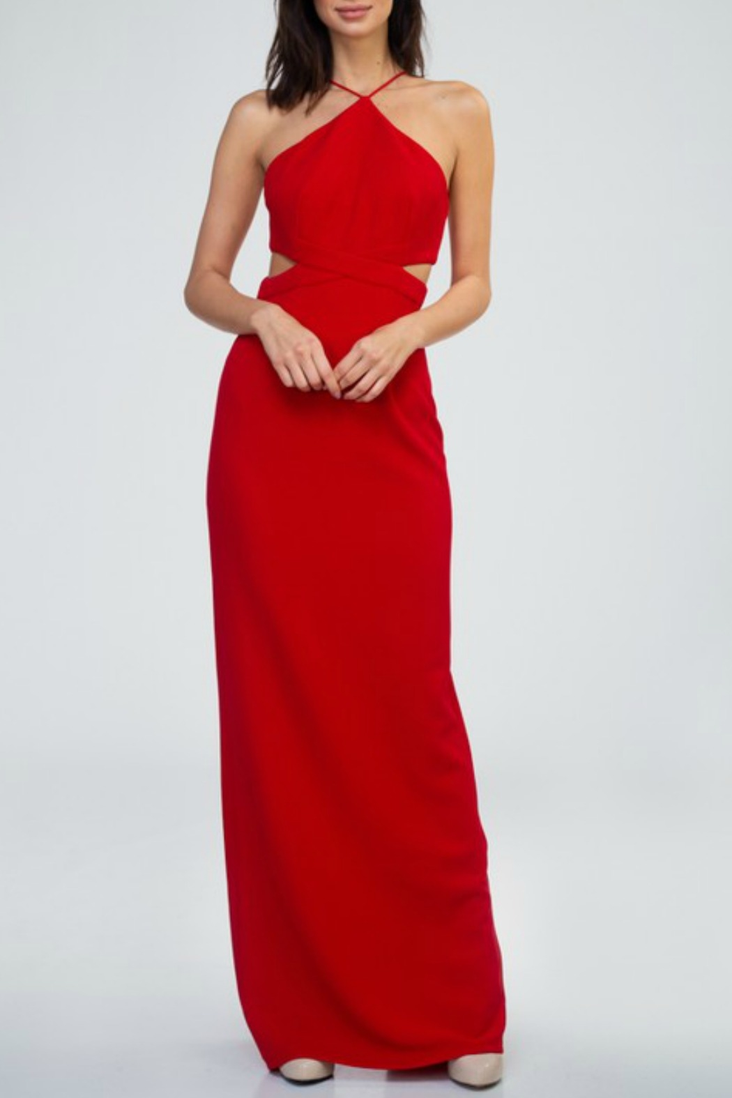 Minuet Cut Out Waist Gown - Main Image
