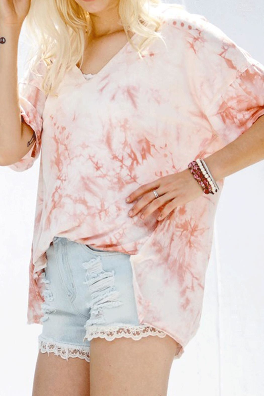 My Story Cut Tie-Dye Top - Front Cropped Image