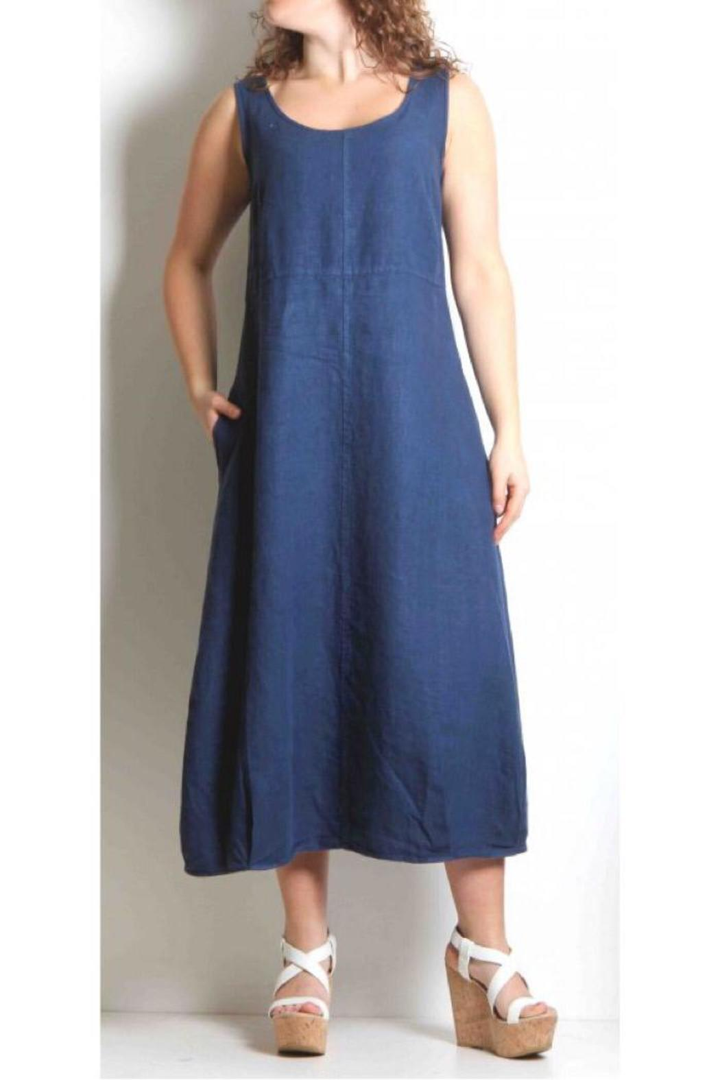 Cut Loose Tuck Linen Dress From Canada By Gaia Boutique Shoptiques