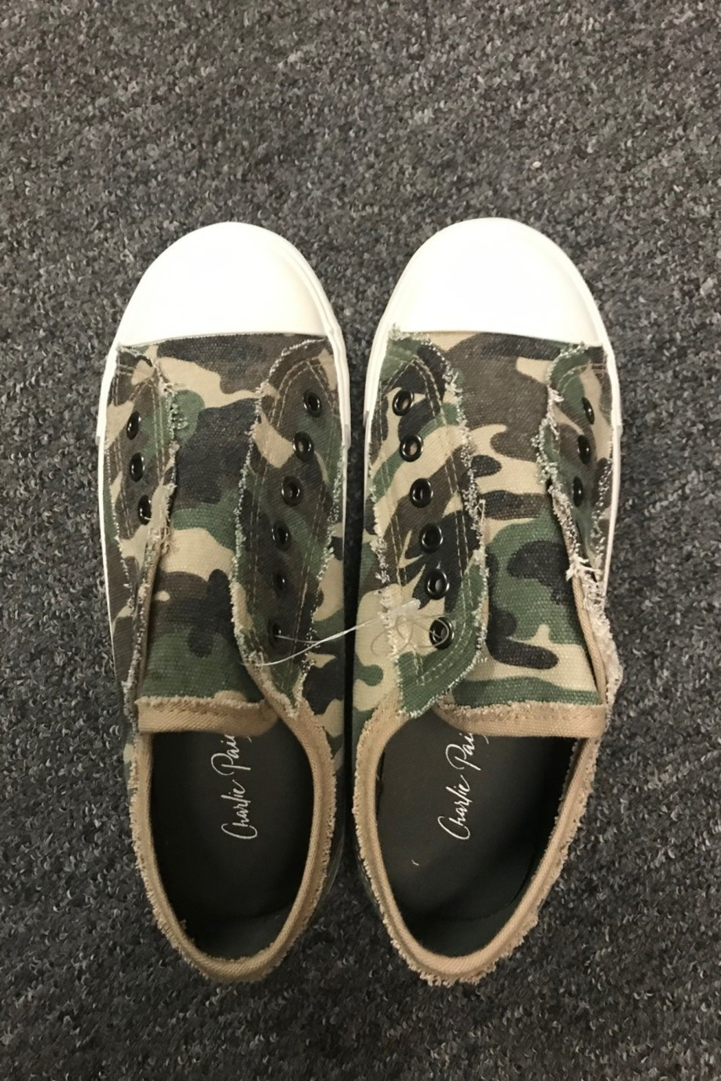 Charlie Paige  Cute Camo Sneakers - Front Full Image