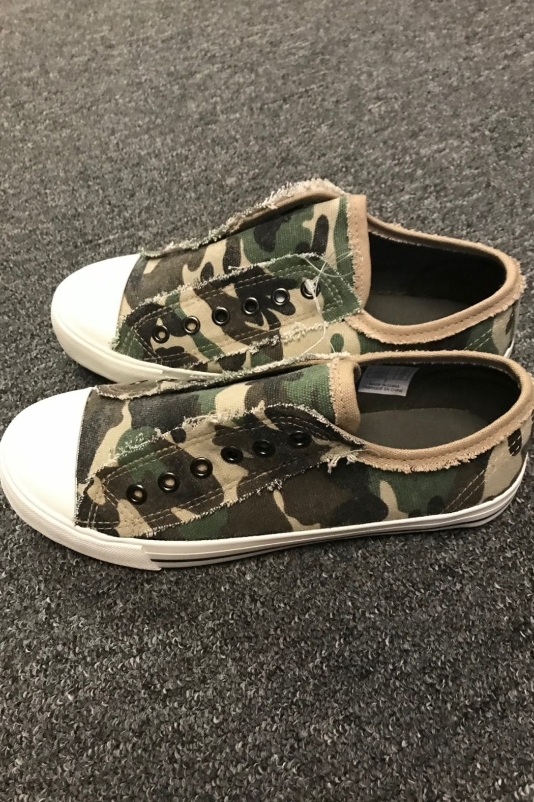 Charlie Paige  Cute Camo Sneakers - Side Cropped Image