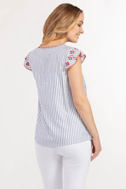 Tribal Jeans  Cute Cap Sleeve Blouse - Side cropped