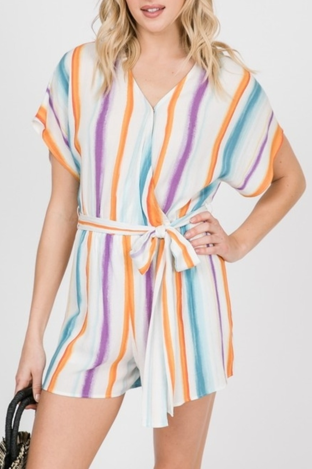 Ces Femme Cute & Colorful romper - Front Cropped Image