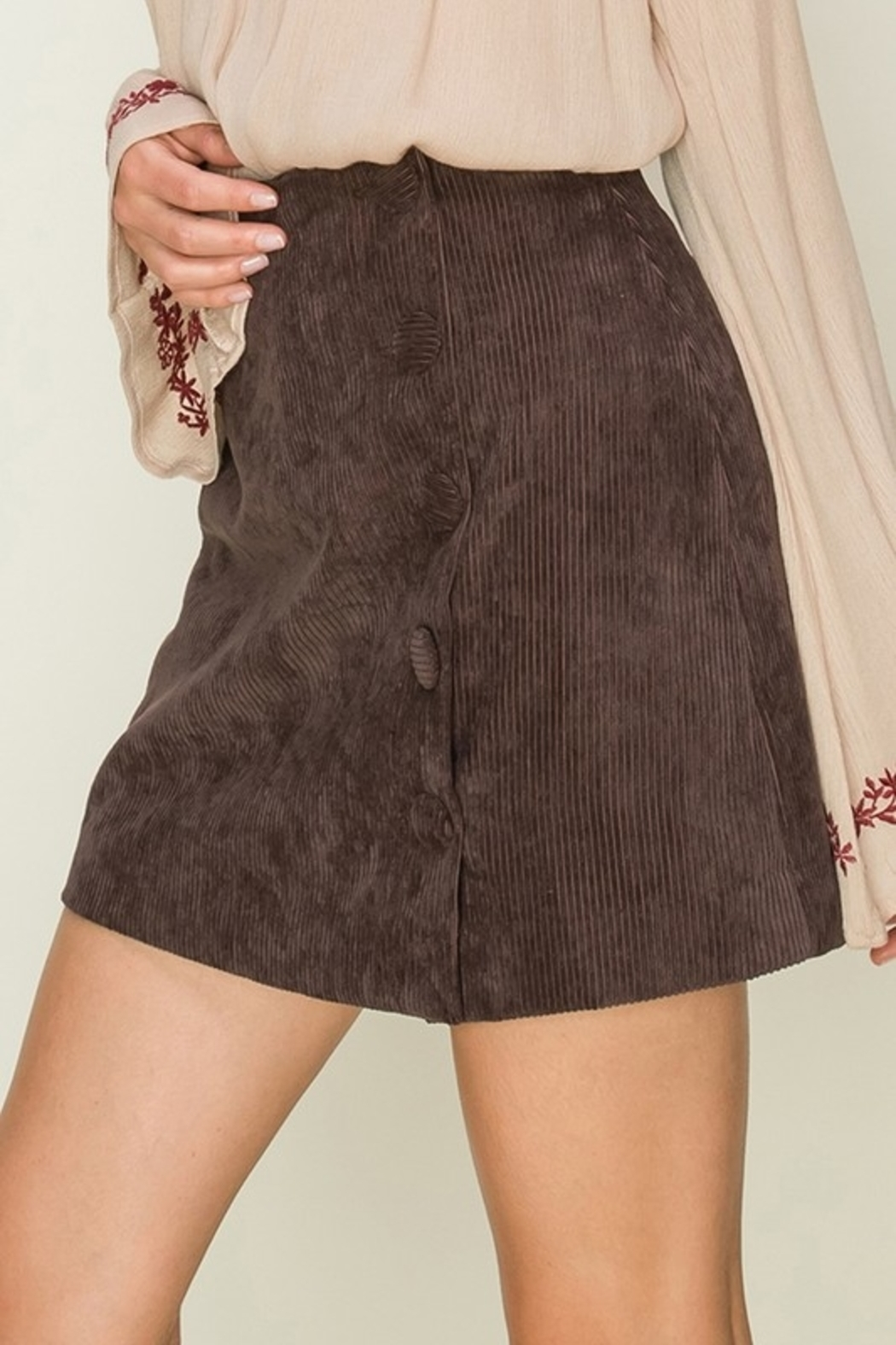 HYFVE Cute In Corduroy skirt - Front Cropped Image