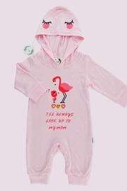 T & Tim Cute Mommy Flamingo Romper - Front cropped