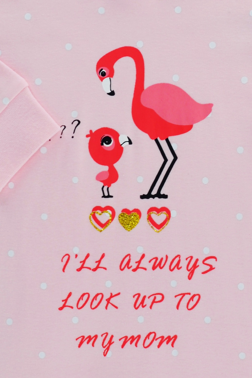 T & Tim Cute Mommy Flamingo Romper - Side Cropped Image