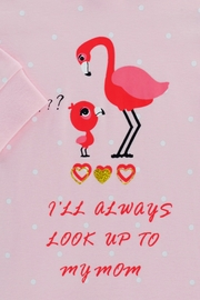 T & Tim Cute Mommy Flamingo Romper - Side cropped