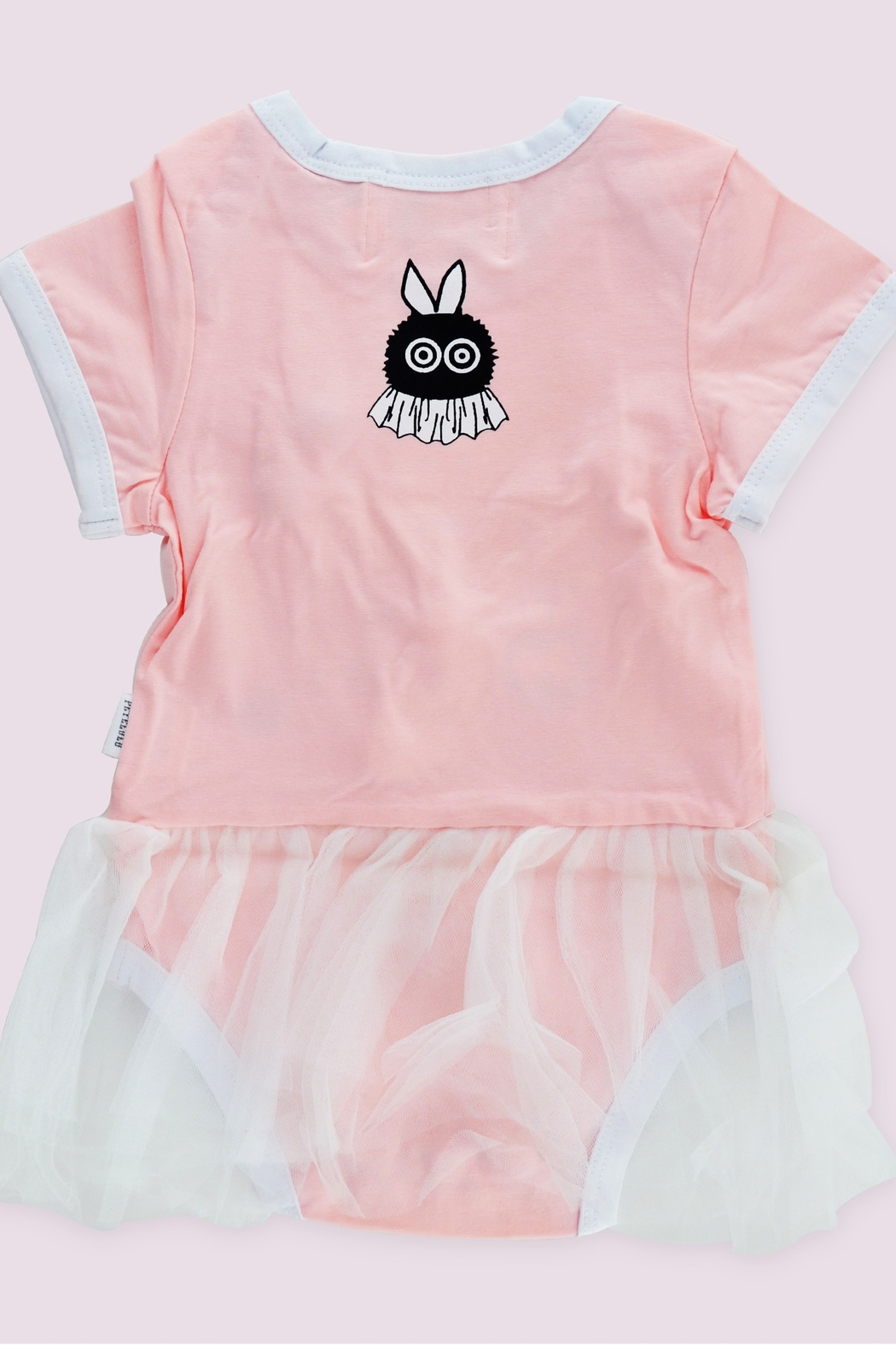 T & Tim Cute Pink Ballerina Bodysuit with Lace Dress - Side Cropped Image