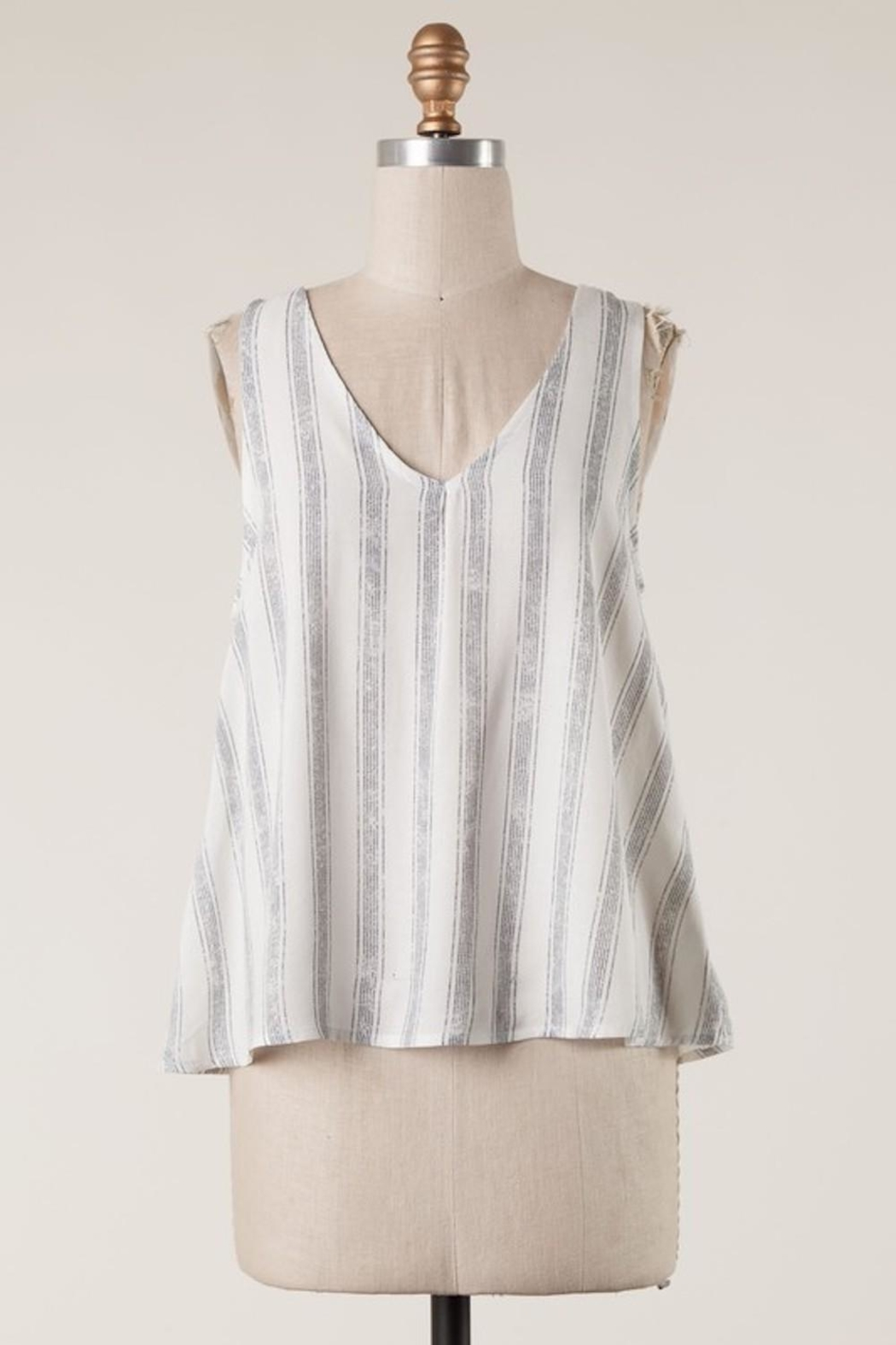 Millibon Cutest Striped Tank - Front Cropped Image