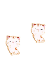 Girl Nation  Cutie Enamel Stud Earrings Sweet Kitty - Product Mini Image