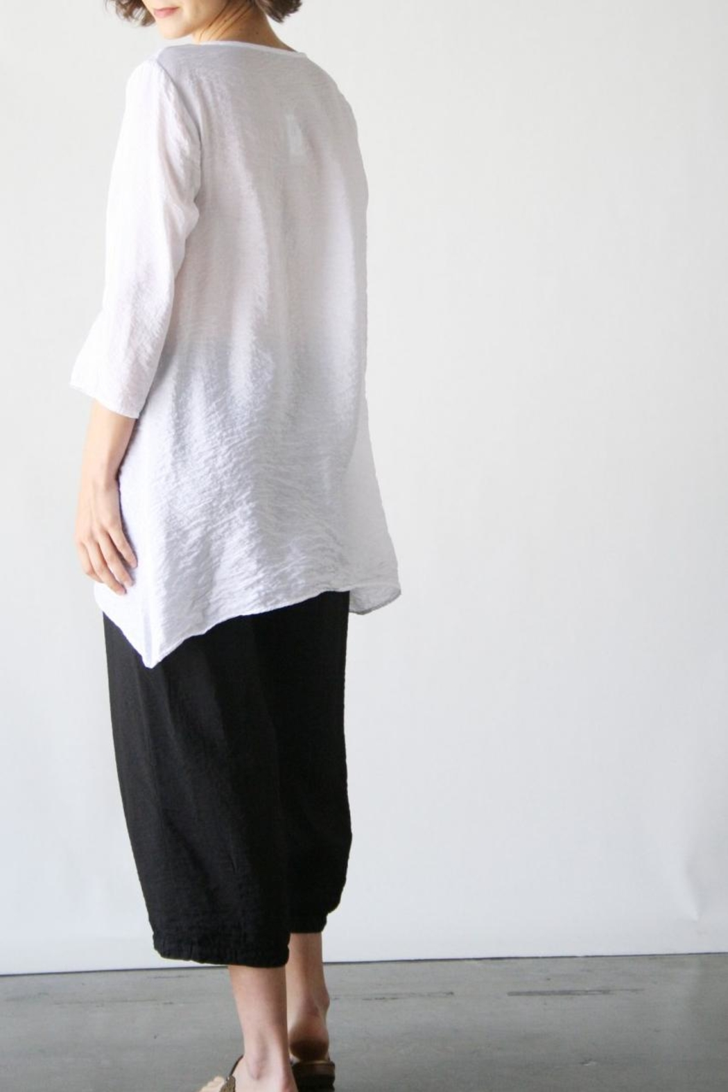 Cutloose Placket Tunic - Front Full Image