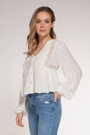 Dex Clothing Cutout Blouse - Product Mini Image