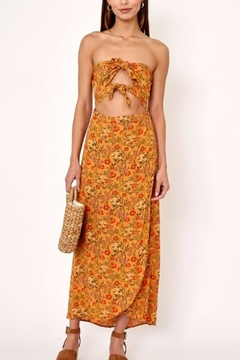 Olivaceous Cutout Floral Dress - Product List Image