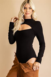 Glam Cutout Front Bodysuit - Front cropped