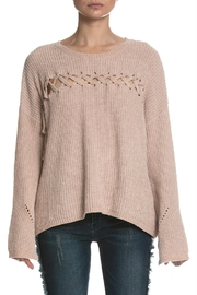 Elan Cutout Front Sweater - Product Mini Image