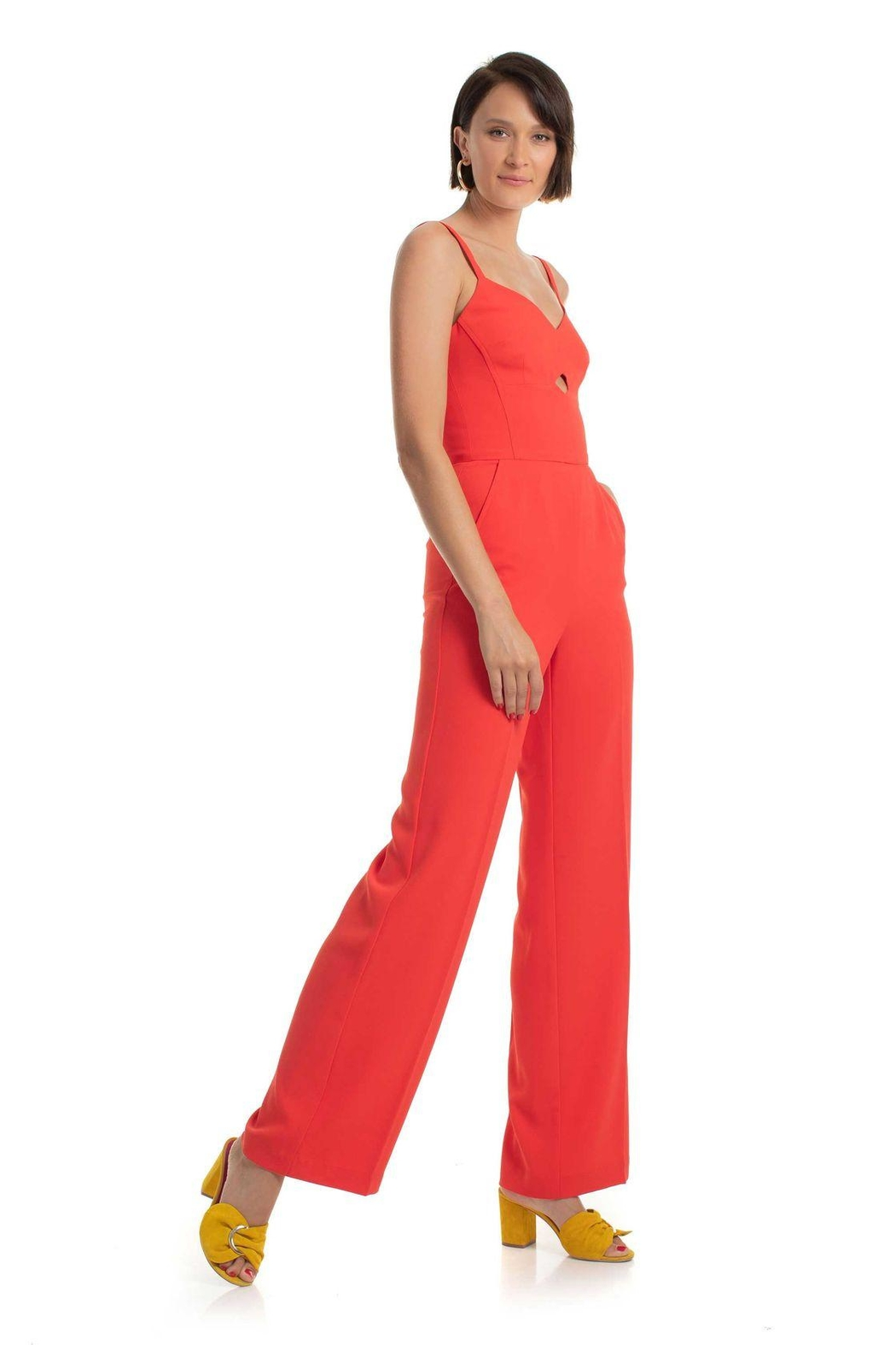 Trina Turk Cutout Jumpsuit - Front Cropped Image