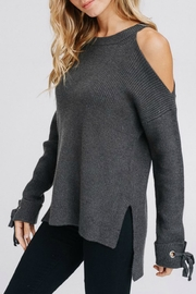 Papermoon Cutout Shoulder Sweater - Product Mini Image
