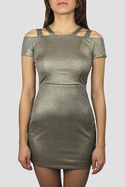 SoZu Cutout Shoulders Dress - Front cropped