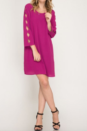 Styleholic Cutout Sleeve Woven Dress - Product Mini Image