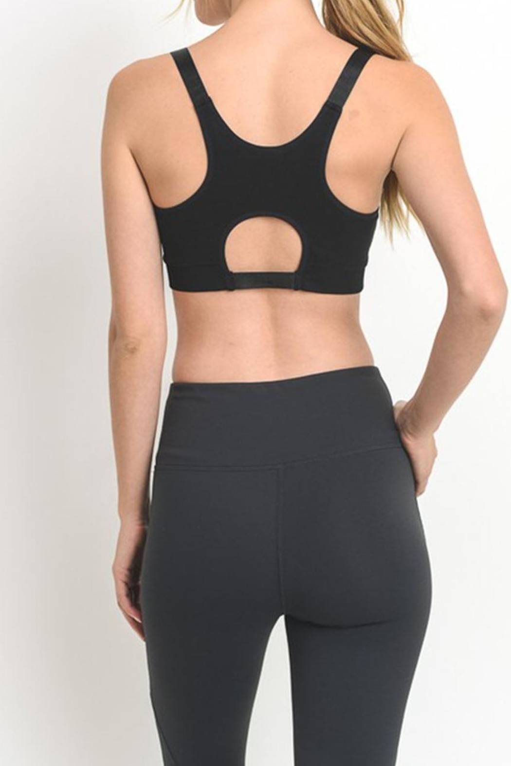 Mono B Cutout Sports Bra - Back Cropped Image