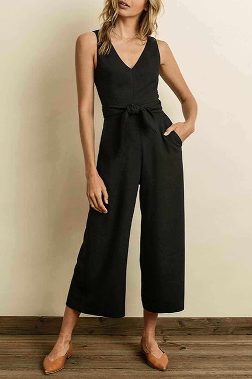 Dress Forum  Cutout Wrap Jumpsuit - Front Cropped Image