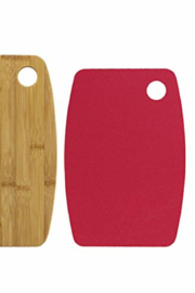 Totally Bamboo Cutting Board W/Boarder Set - Front full body