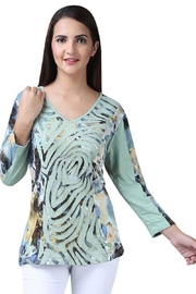 Parsley & Sage Cutwork Abstract Top - Product Mini Image