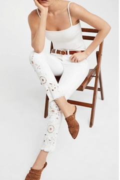 Free People Cutwork Cigarette Jeans - Product List Image