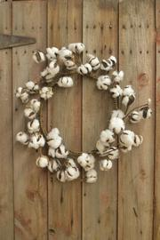 MeshedDesigns Cotton Ball Wreath - Product Mini Image