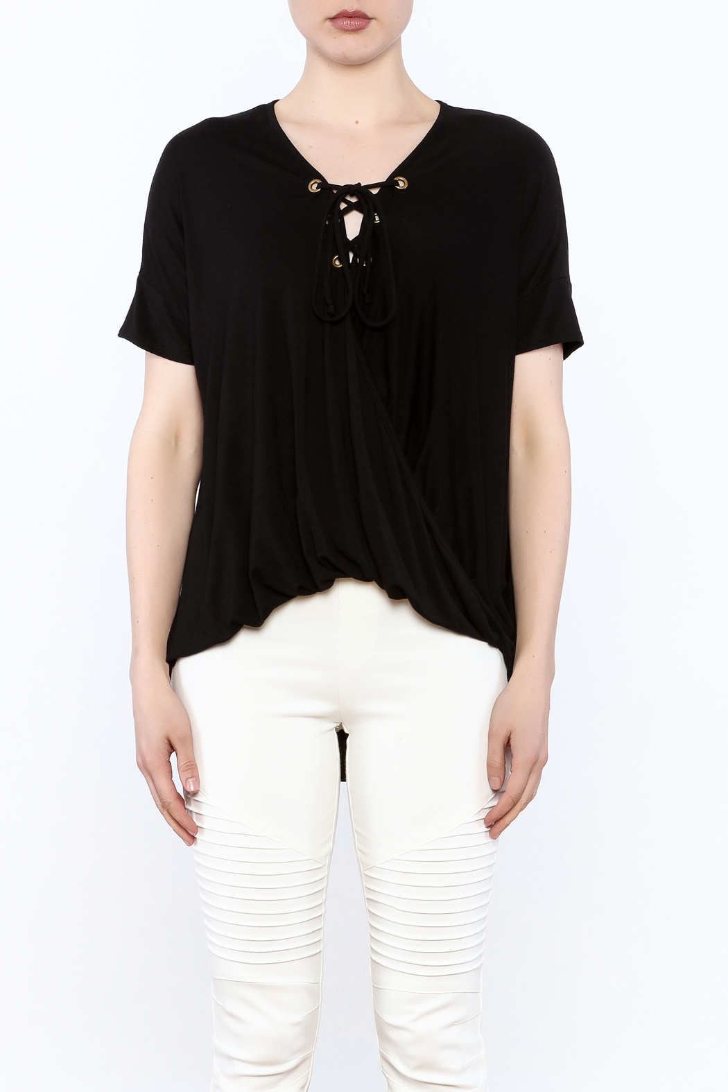 CY USA Lace Up Tee from Atlanta by GrayeStyle — Shoptiques