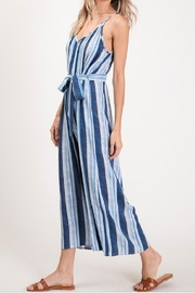 CY Fashion Blue Striped Jumpsuit - Other