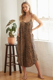 CY Fashion Cheetah Print Romper With Spaghetti Straps - Other