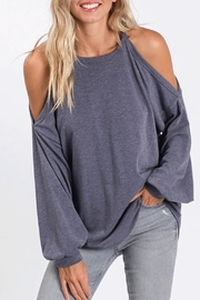 CY Fashion Cold-Shoulder Soft Top - Product Mini Image