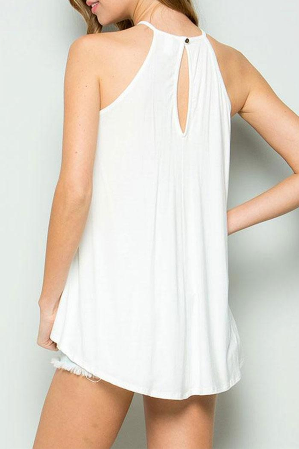 CY Fashion Crochet Lace Detail Tank Top - Front Full Image