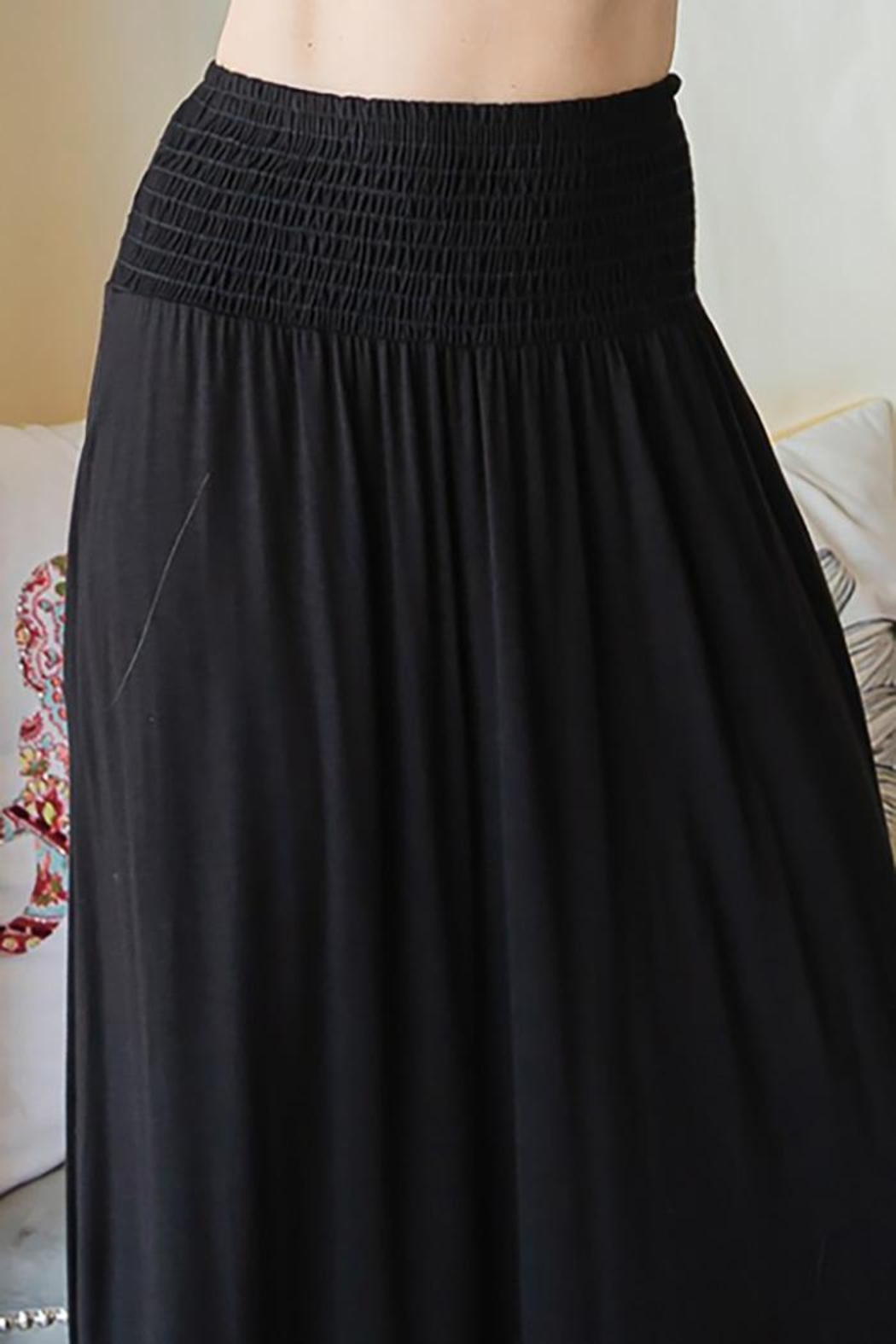 CY Fashion Elastic Waist Tiered Skirt - Side Cropped Image