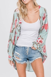 CY Fashion Floral Open-Front Cardigan - Front full body